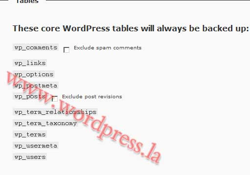 WordPress数据库备份插件