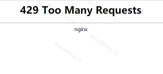 WordpPress 429 Too Many Requests错误