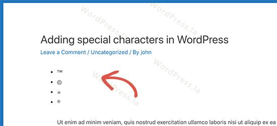 WordPress添加特殊符号图片
