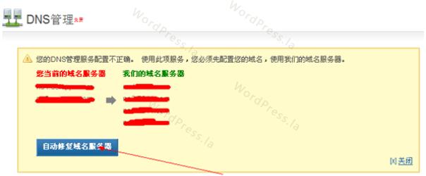 自动修复域名服务器