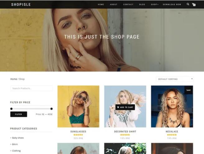 免费WordPress商城主题推荐:ShopIsle