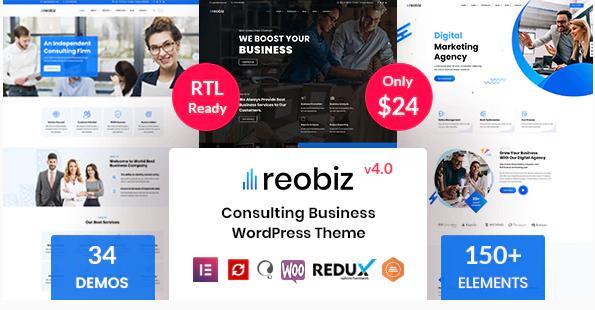 WordPress主题推荐:Reobiz适合咨询业务的网站