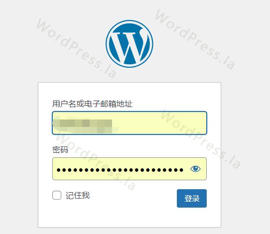 登录WordPress后台